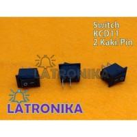 Saklar On Off 15x10mm Rocker Switch Mini Hitam 2 Pin Switch 15x10 mm