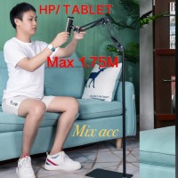 S99 Lazypod 1.75M Stand Ranjang lantai phone Holder Stand Hp Tablet