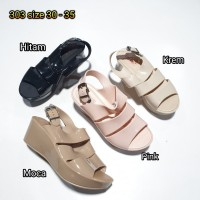 Jelly sandal anak bara bara wedges tali import 303