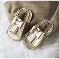 Sepatu Bayi   Prewalker   Jeremy   Audrey Ribbon Series - Gold, 4