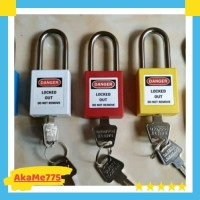 Gembok Industri Safety ABS Lock Out Tag Out Padlock