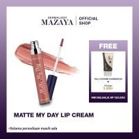 Mazaya Matte My Day Lip Cream 7ml - Luna, FREE Foundation