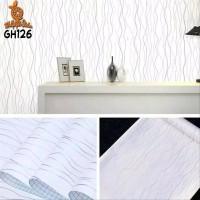 Home Wallpaper Sticker Dinding Ulir Putih - 45cm x 10 m