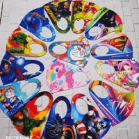 Masker scuba anak-anak sublim printing 3d Harga 1pack isi 12pcs