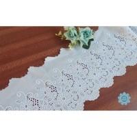 Kain Renda Bordir Katun - Bunga Besar - 11067 (L:-/+ 16 cm)