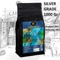 JnC House Blend Silver 1 KG 30% Arabica 70% Kopi Biji Robusta - Biji Sangrai