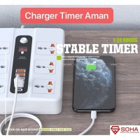 BKL-11 Stop Kontak Pakai Waktu / Power Socket USB TYPE C Timer