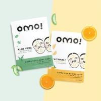 OMO! Cupra Silk Facial Mask (Promo 5, GRATIS 2) Masker Wajah