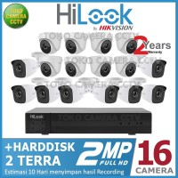 PAKET CCTV HILOOK 2MP 16 CHANNEL HDD 2TB