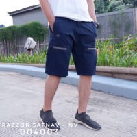 Celana Pendek Gunung Outdoor Cargo Pria Razzor Satnav Original NAVY - M