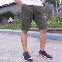 Celana Pendek Gunung Outdoor Cargo Pria Razzor Satnav Original ARMY - M