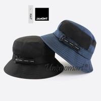 Jamont fisherman Modern Bucket Hat Topi Pria Pemancing Pancing Gunung - Gray