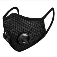 Masker Sport 2 Katup Udara Breathable Sport Mask Earloop - Black