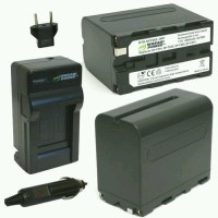 Paket Wasabi Power Battery 2-Pack 8500mAh Rechargeable and Travel Car