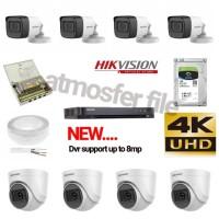 PAKET CCTV HIKVISION 8CH UHD 5MP HDD 1TB KOMPLIT (DVR SUPPORT UP 8MP)