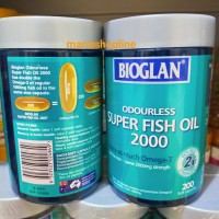 Bioglan Odourless Super Fish Oil 2000 mg Omega 3 isi 200caps