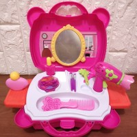 Mainan Anak Koper Makeup Salon Kit Fashion Beauty
