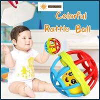 SANSTATION Mainan Bayi/ Bola Putar Rattle Teether dengan kerincingan