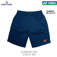 Celana Pendek Yonex Badminton Tru Breeze 1634 Gilbratar Sea / Scarlet
