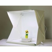 Photo Studio Mini Size L + Lampu LED + Pouch / Photobox Lightbox Mini