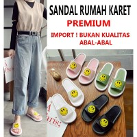 Sandal Rumah / Sandal Santai Indoor Bahan Karet Anti Slip IMPORT - Putih, 36-37