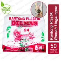 Kantong Plastik Kantong Kresek Ramah Lingkungan Go Green ukuran 24