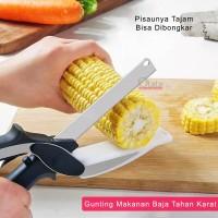 Gunting Dapur Praktis / Gunting Talenan 2in1 OLL-2080