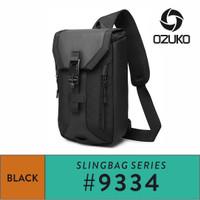 Ozuko Sling Bag #9334 - Black - Hitam