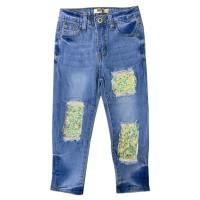 MOEJOE Glitter Sequin Girl Jeans