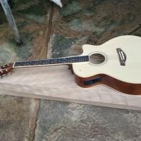 gitar akustik elektrik natural cort