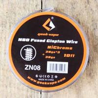 Geek Vape coil kawat wire Nichrome Fused Clapton 28GA*3+36ga Ni80 ori - zn08