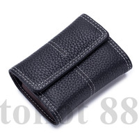 Dompet Kartu Coin Kulit Asli organ wanita fashion card holder 2020 - Hitam