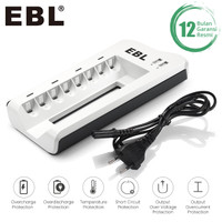EBL Charger AA / AAA Ni-MH Rechargeable Ba with 8-Bay With 2 Usb Port