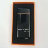 Korek Api Elektrik Fingerprint Sensor LED Hitam BL03