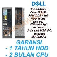 Komputer Cpu DELL 790 390 CORE I5 2400 GEN2 BEKAS ORIGINAL BRANDED