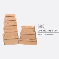 Sample Set Cake Box Setiap Ukuran - Sampel Contoh Kotak Kue
