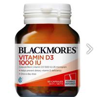 Blackmores Vitamin D3 1000IU Kesehatan Tulang Made In Australia - 60 CAPSULES