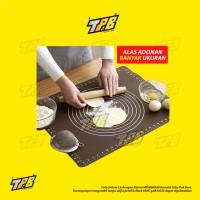 Silikon Mat alas adonan kue talenan cetakan baking tatakan cake giling - Hijau, 60x45cm