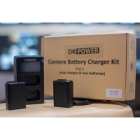Battery Camera DK Power Battery Charger Kit NP-FW50 2 Battery NPFW50