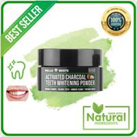 Premium Charcoal Pemutih Gigi Alami - Mello White Whitening Powder