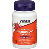 NOW FOODS VITAMIN D3 5000IU, D3 5000 IU, VITAMIN D3 NOW - 120 SOFTGELS