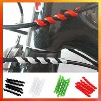 Pelindung Kabel Rem Sepeda isi 2 Pcs Bentuk Spiral Anti Gesekan - White