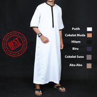 New Jubah Muslim Saudi Lengan Pendek - Gamis Pria - Baju Lebaran Cowok