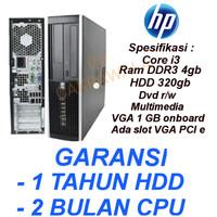 komputer cpu HP 8100 core i3 550 Desktop slim built up original