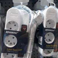Colokan Listrik Krisbow White Putih Isi 3 Stop Kontak Berkualitas
