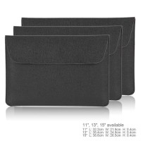 """Tas Laptop/Softcase for Macbook 13.3"""" PU Leather - Hitam"""