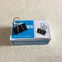 Binder Clip Kenko Joyko no 155 penjepit klip kertas hitam isi 12 pc