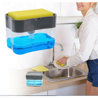 Dispenser Sponge Holder 2 In 1 Wadah Sabun Cuci Piring Sponge HW001AUR