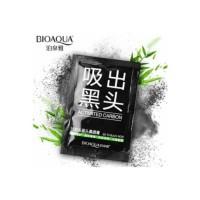 masker komedo bio aqua Actived carbon black mask charcoal