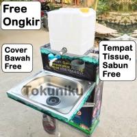 Wastafel Bak Cuci Tangan Portable Tempat Cuci Piring Drum Tong Jerigen